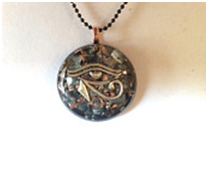 Eye of Horus orgonite necklace for EMF shielding