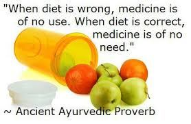Ayurvedic proverb relating to how to heal yourself from cancer naturally.