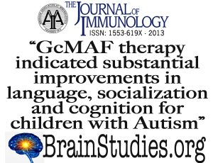 The Journal of Immunology publishes proof that GcMAF greatly improves Autism symptoms.